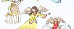 Jak vyrobit anděla na pověšení z papíru?